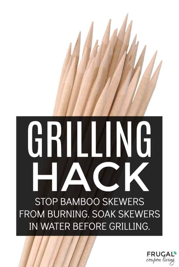 What do you do with skewers before grilling? Grilling Hack, soak bamboo skewers in water!