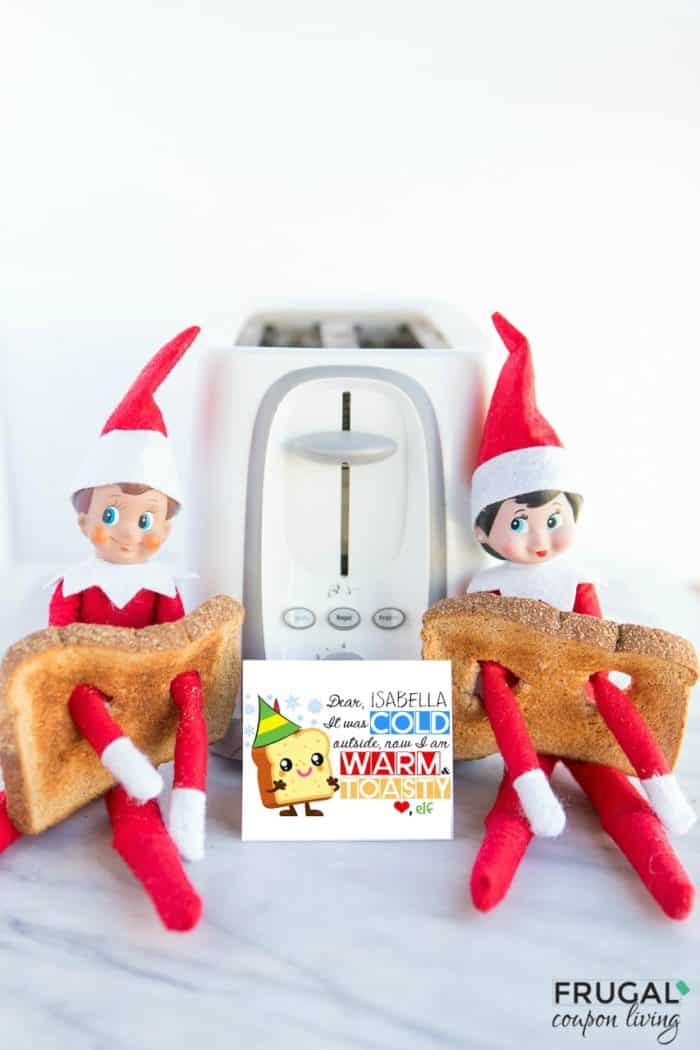 Warm and Toasty Free Elf on the Shelf Printables