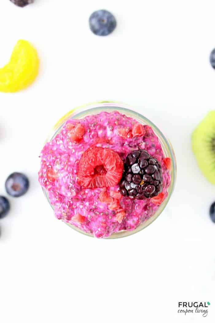 Natural Chia Pudding Parfait with Fruit