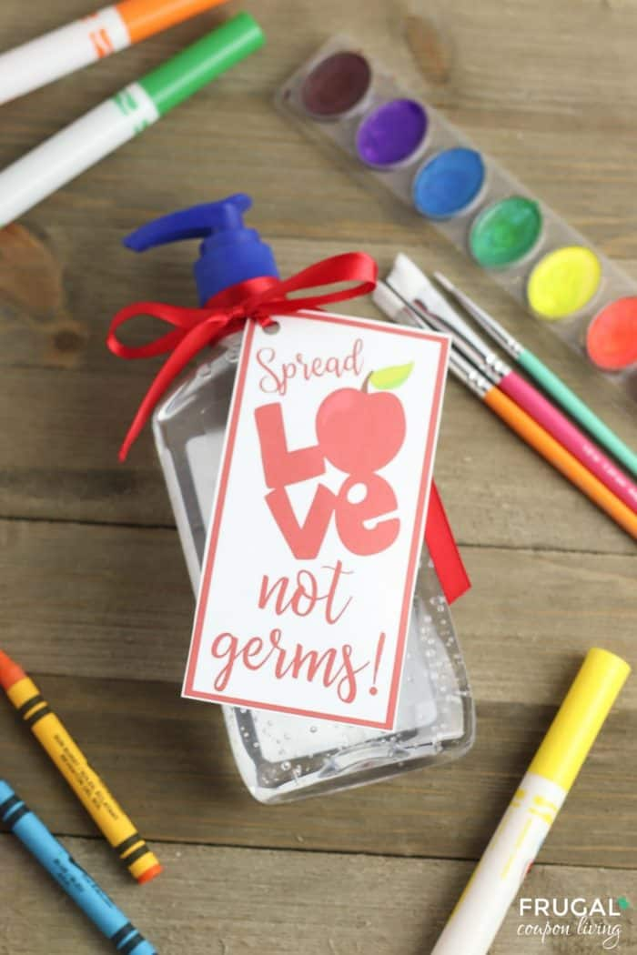 Spread Love, Not Germs Funny Hand Sanitizer Teacher Gift