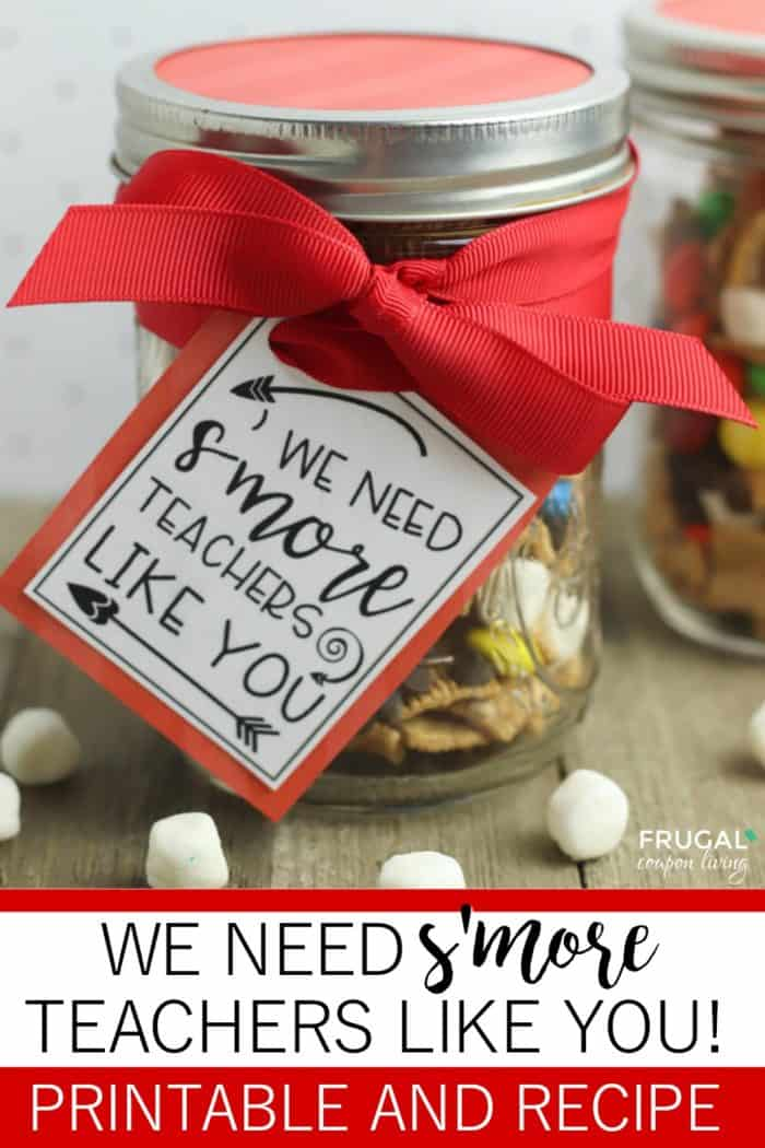 Teacher Gift Tag Template for S'mores
