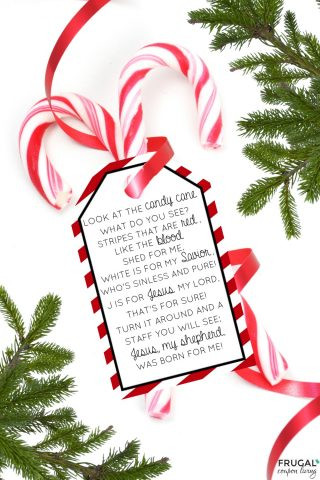 Legend of the Candy Cane Christmas Poem Printable