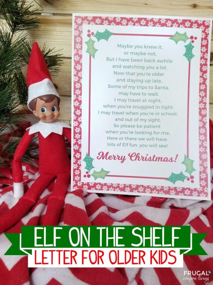 Elf on the Shelf Letter to Older Kids