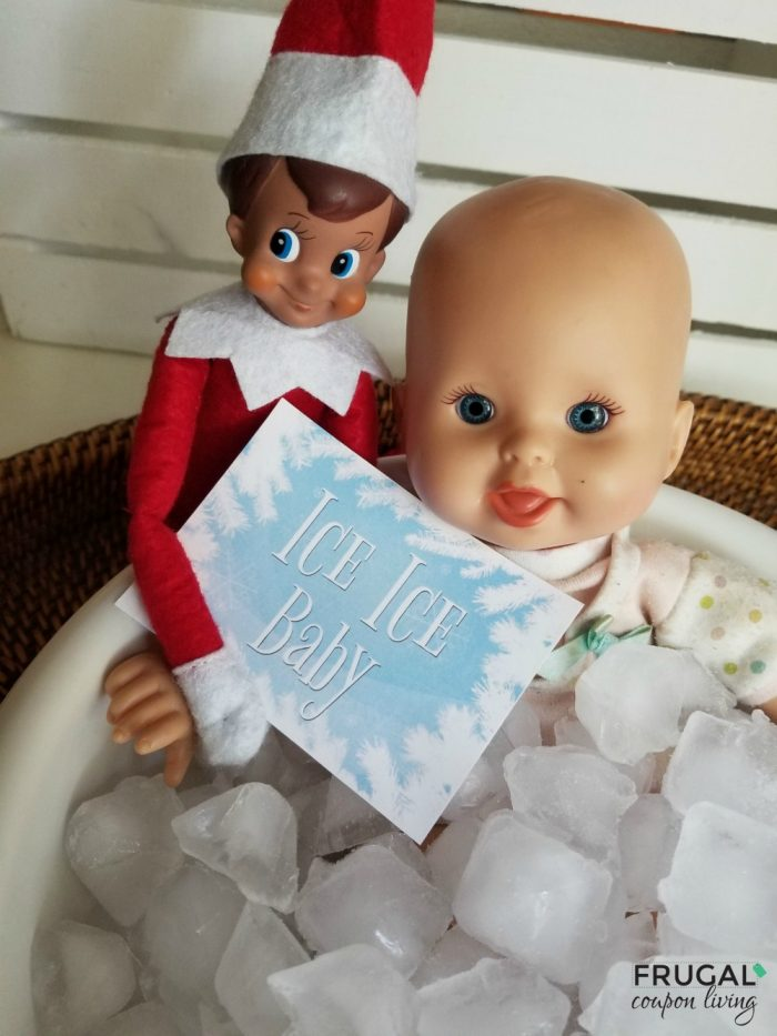 Elf on the Shelf Ice Ice Baby Free Elf on the Shelf Printable for a Baby