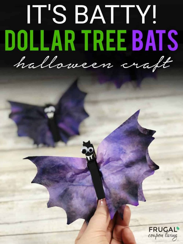Dollar Tree Halloween Cute Bat Craft