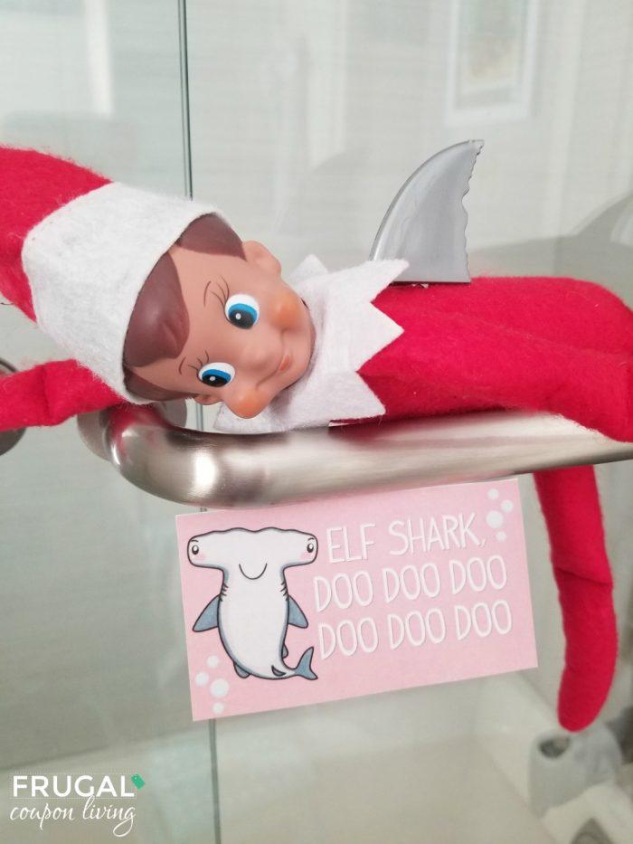 Elf on the Shelf Baby Shark Printable