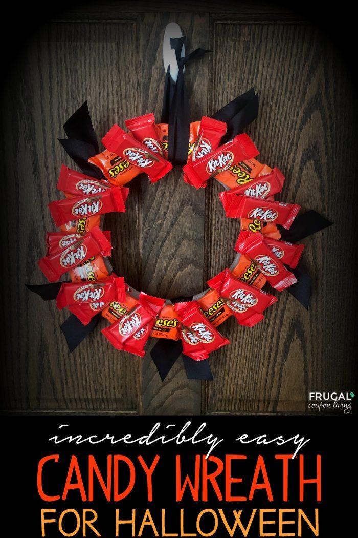 Edible Halloween Candy Wreath