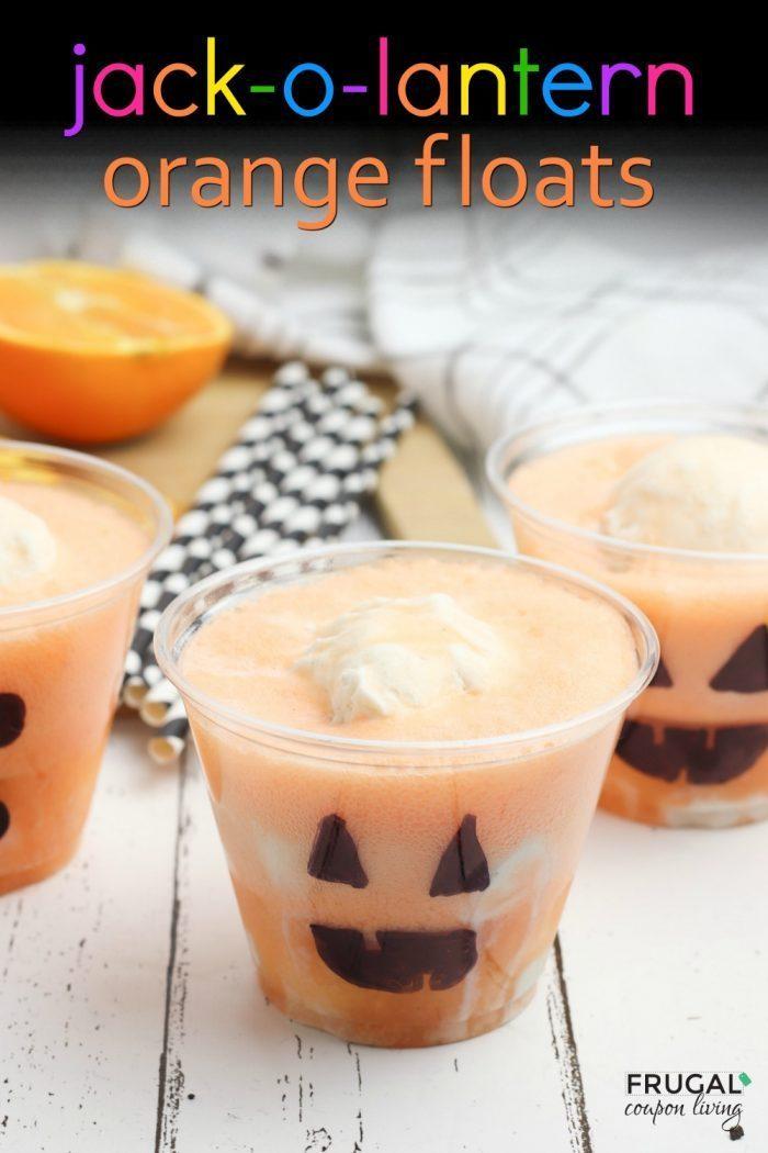 Jack-O-Lantern Orange Floats for Halloween