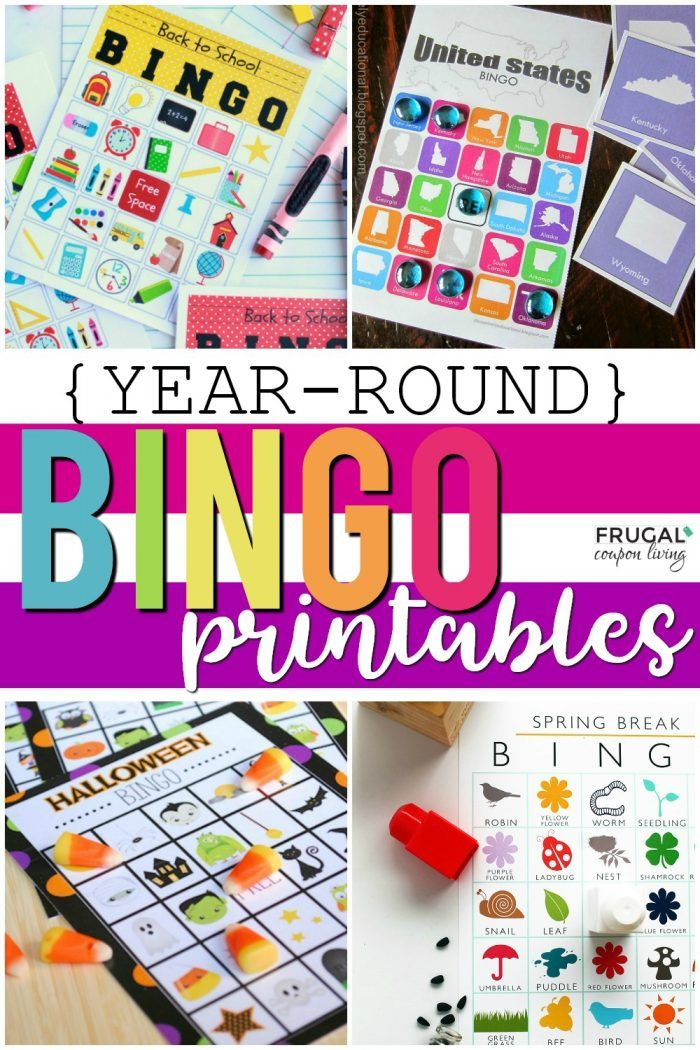 Themed Bingo Game Printables for School