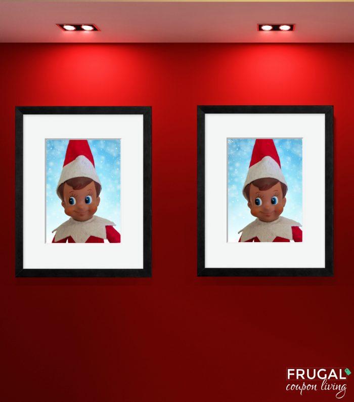 Elf on the Shelf Portrait Photo Gallery Wall Frames