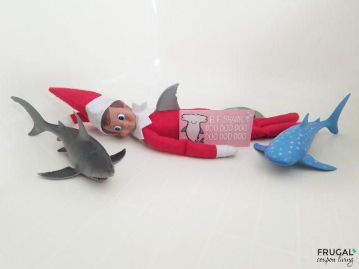 Elf on the Shelf Shark Idea