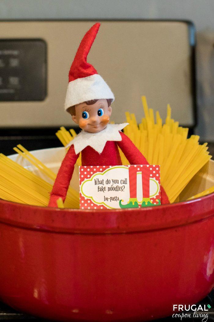 Funny Elf on the Shelf Idea and Printable