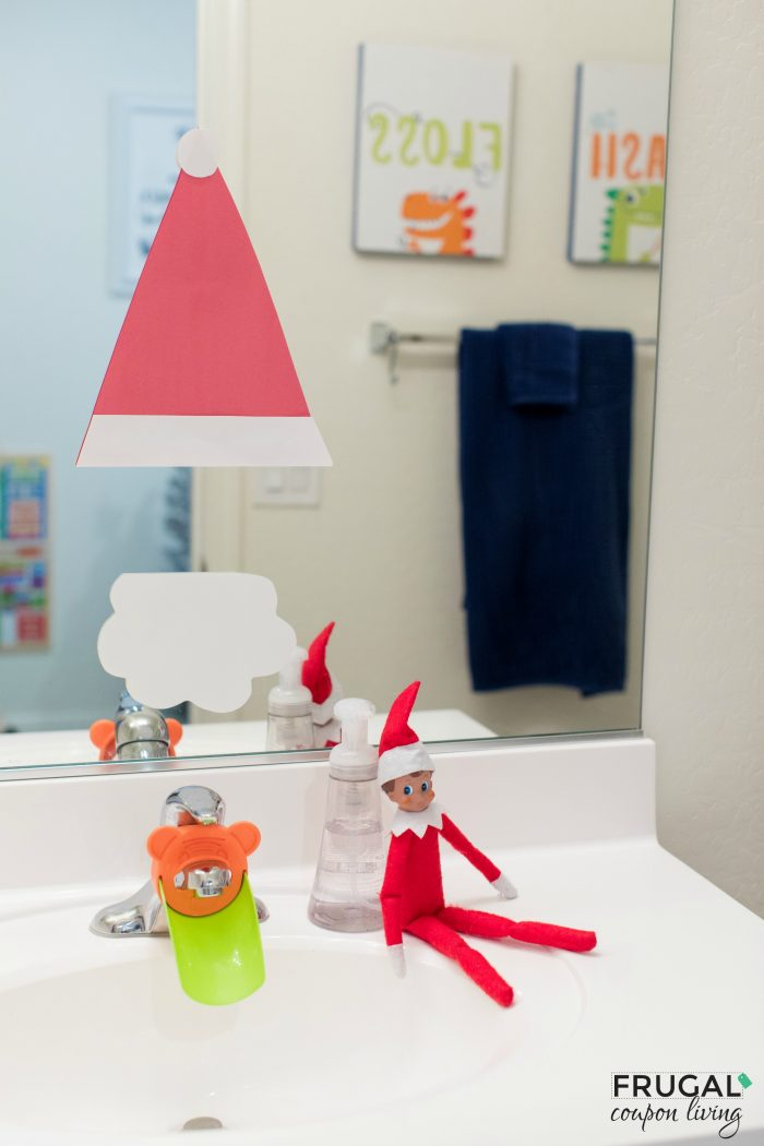 Elf on the Shelf Snowman in the Mirror | Ideas for Toddlers