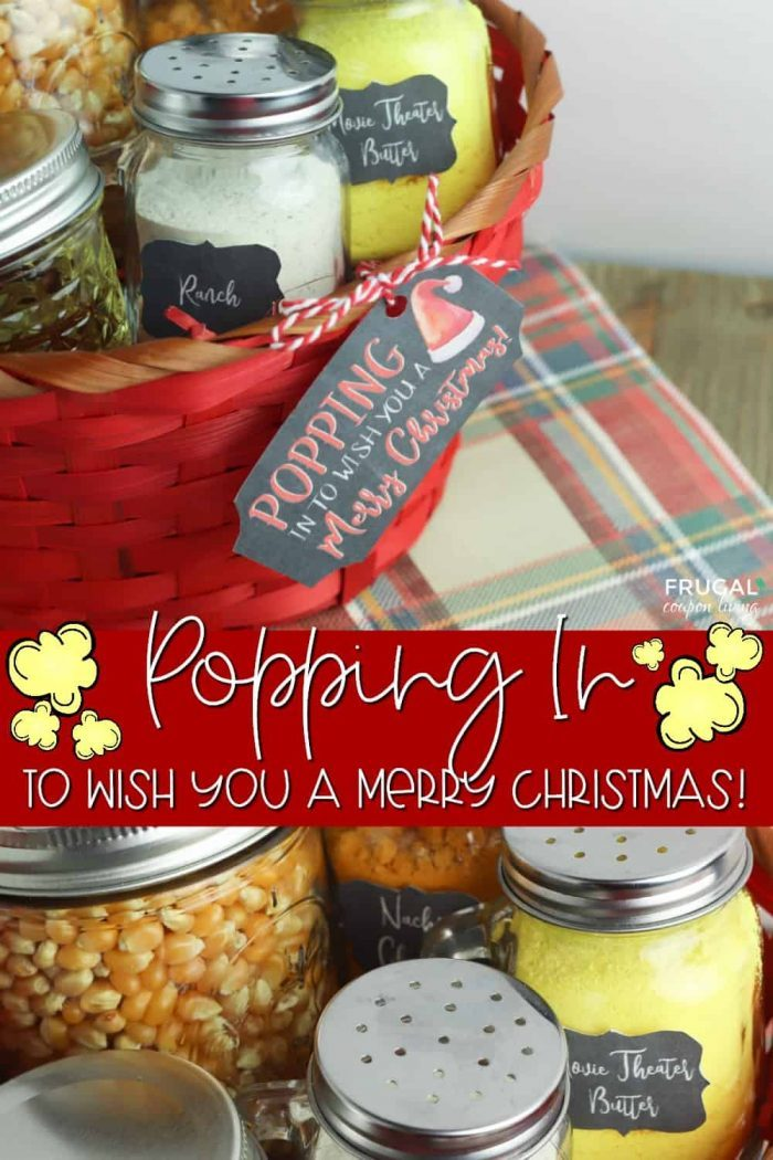 Christmas Popcorn Gift Tag and Gift Basket Labels