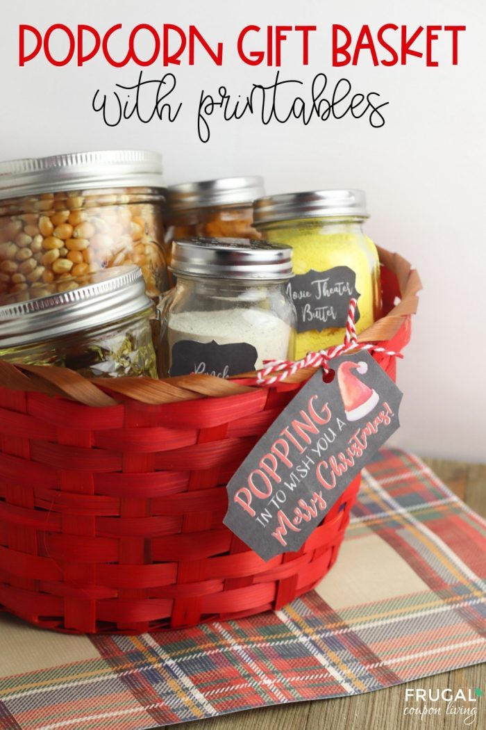 Popcorn Gift Basket with Printables