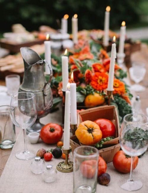 Edible Table Runner for Thanksgiving