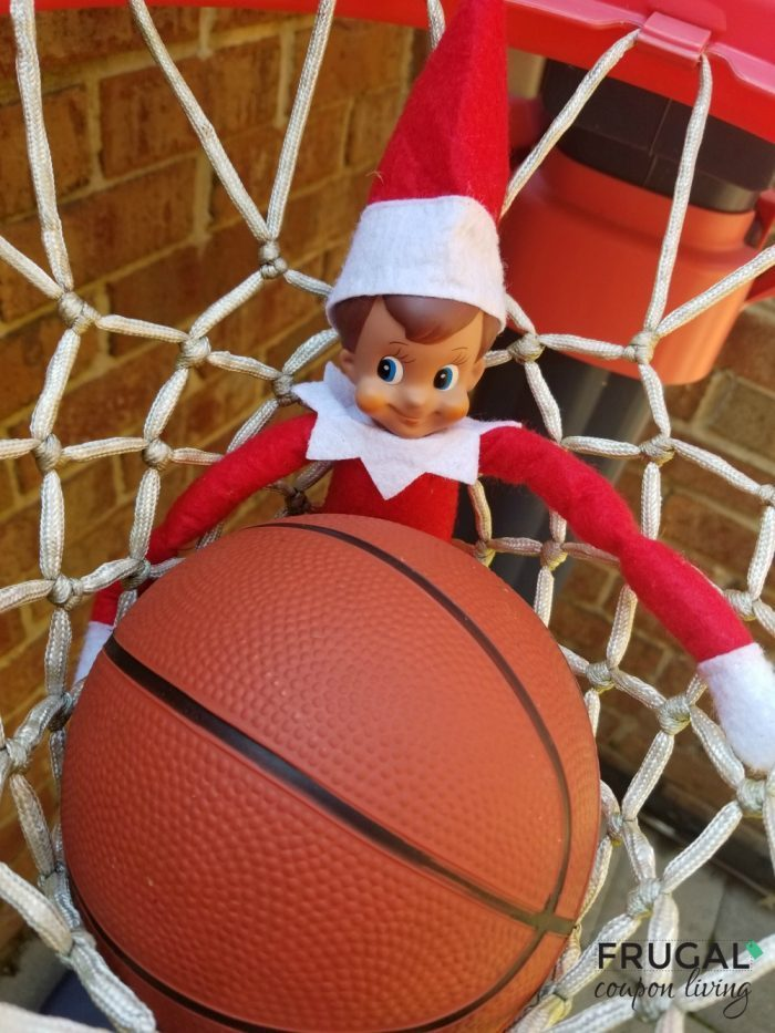 Elf on the Shelf Basketball Game with Printable Scoreboard