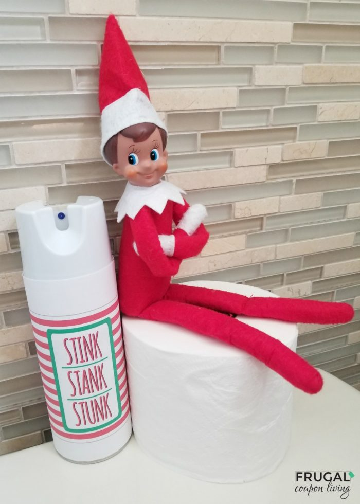 Elf on the Shelf Joke Stink Stank Stunk Spray Printable