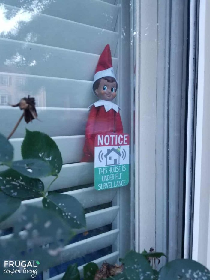 Free Elf Surveillance Sign and Download