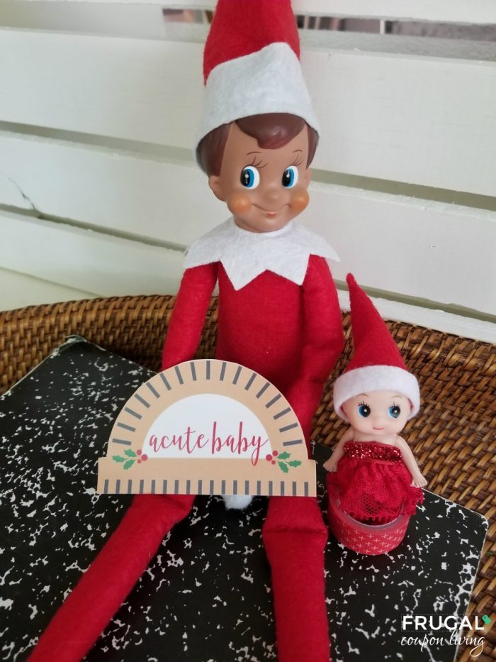 A Cute Baby Elf on the Shelf Printable - Elf Ideas for two elves