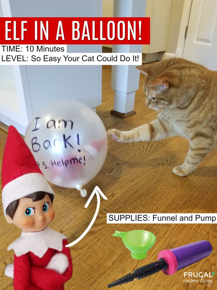 The Easiest, Funniest Elf on the Shelf Arrival Idea