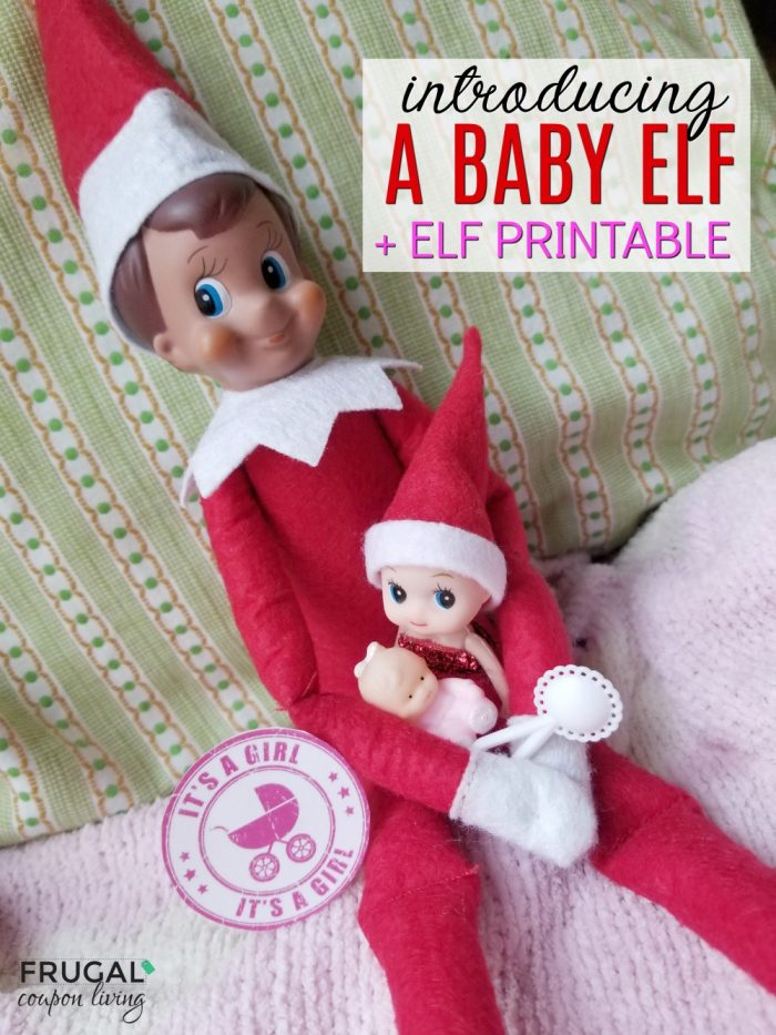 Elf on the Shelf Girl Baby Elf and Free Elf Printable