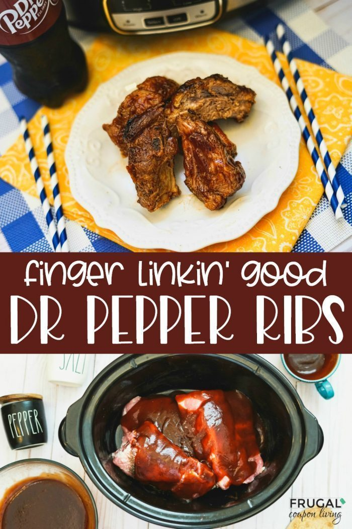 Dr. Pepper Ribs Slow Cooker