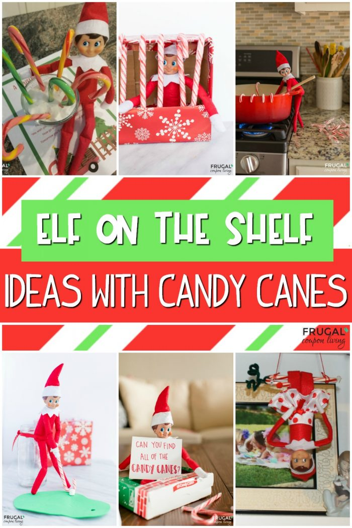 Elf on the Shelf Candy Cane Ideas