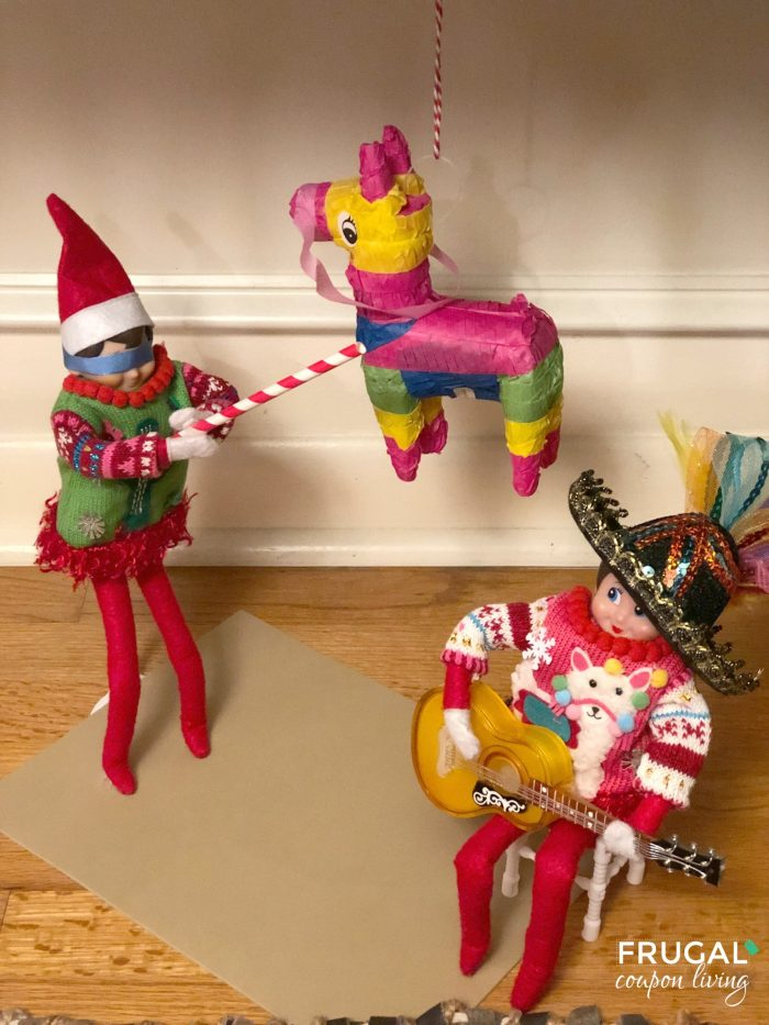 Elf on the Shelf Mini Pinata | Elf on a Shelf Ideas for Two Elf Dolls