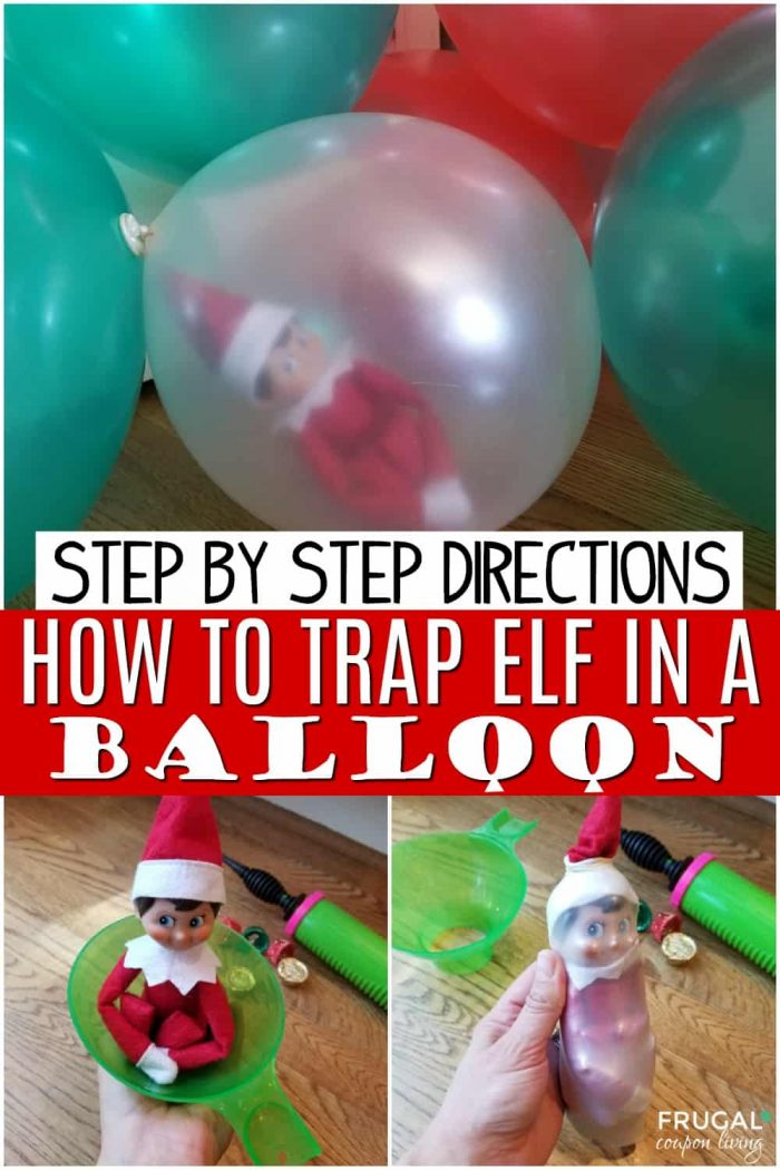 Elf on the Shelf Balloon Idea
