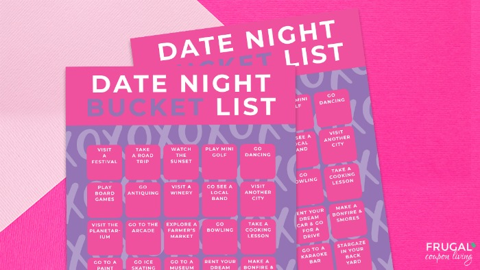 Date Night Ideas | Bucket List Printable for Couples