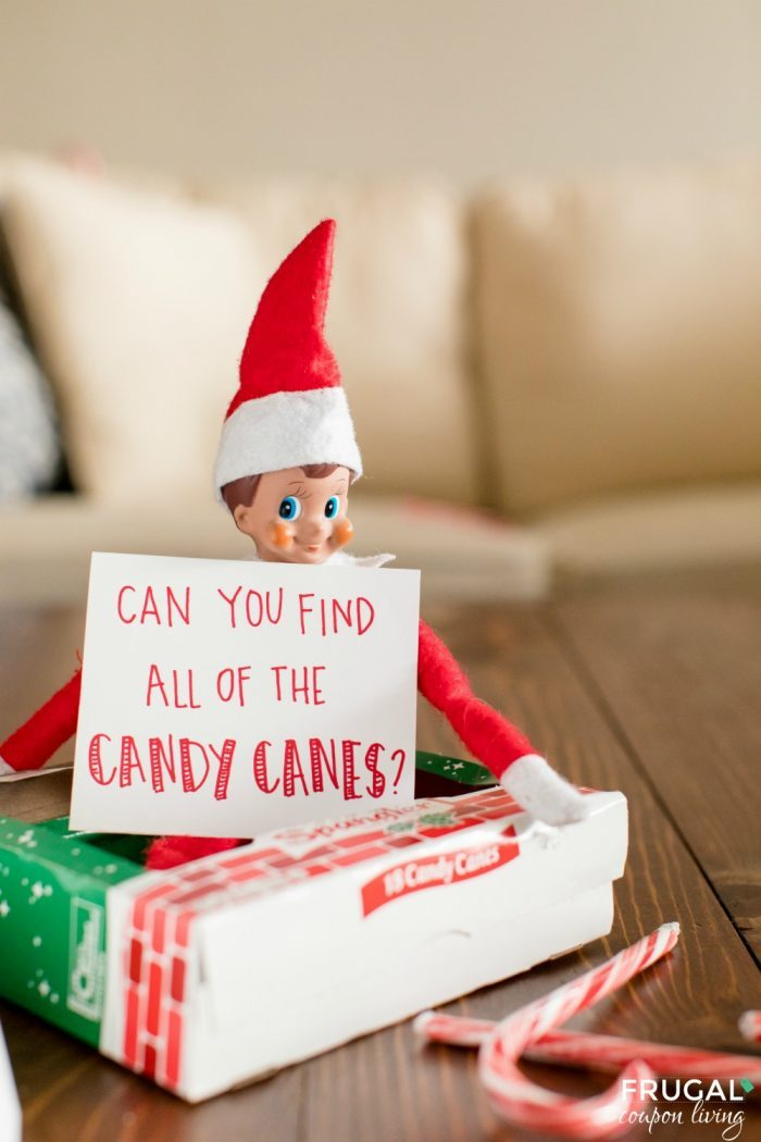 Elf on a Shelf Toddler Ideas | Candy Cane Hunt