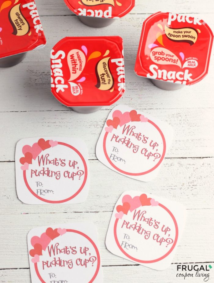 Pudding Cup Valentine Printables for Kids