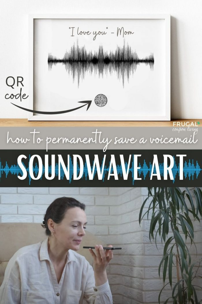 How do I permanently save a voicemail? soundwave art with qr code