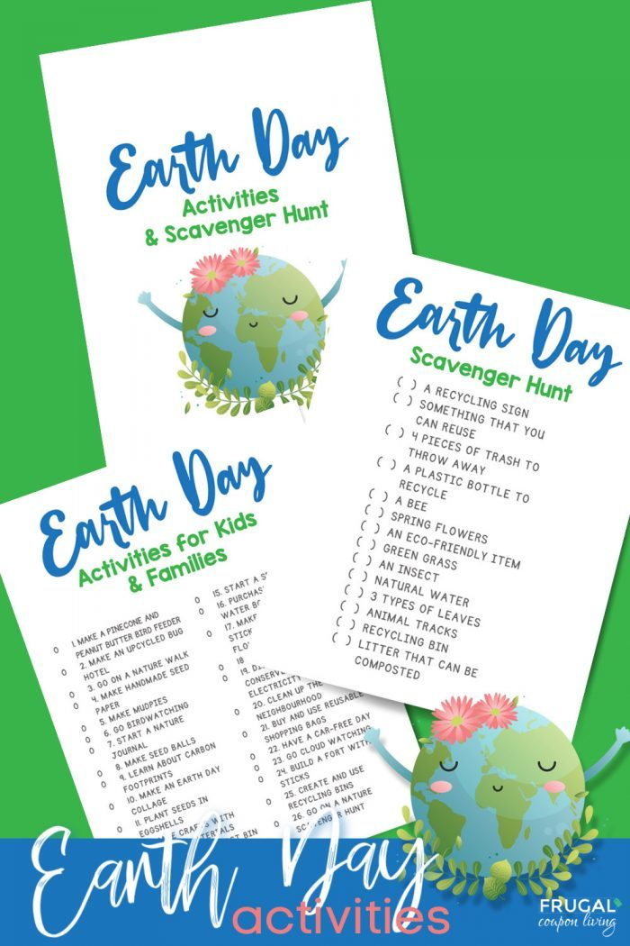 Earth Day Scavenger Hunt and Activities for Kids