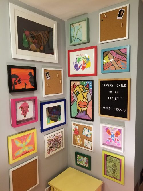Gallery Wall Idea is from Frugal Coupon Living.