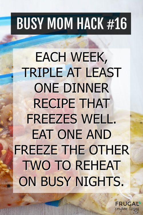 Busy Mom Freezer Dinner Hack