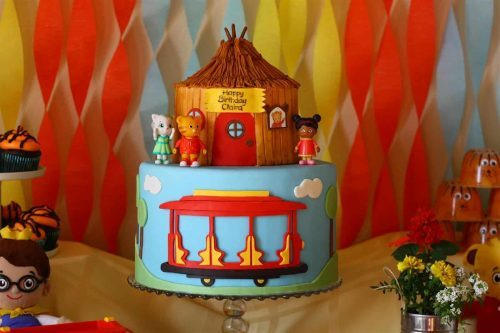 Daniel Tiger Birthday Party Cake
