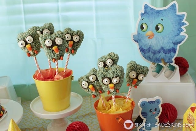 Owl Rice Krispies Cake Pops