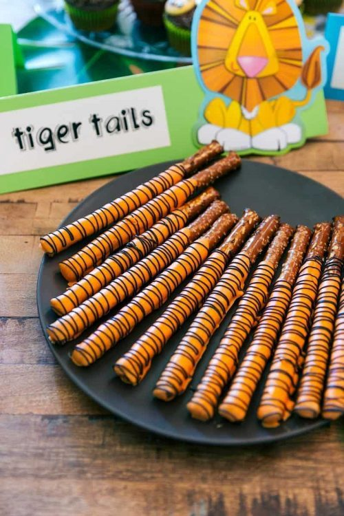 Tiger Tails Chocolate Pretzel Sticks