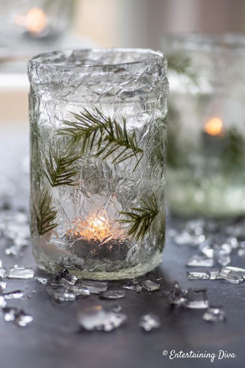 DIY ice candle holders