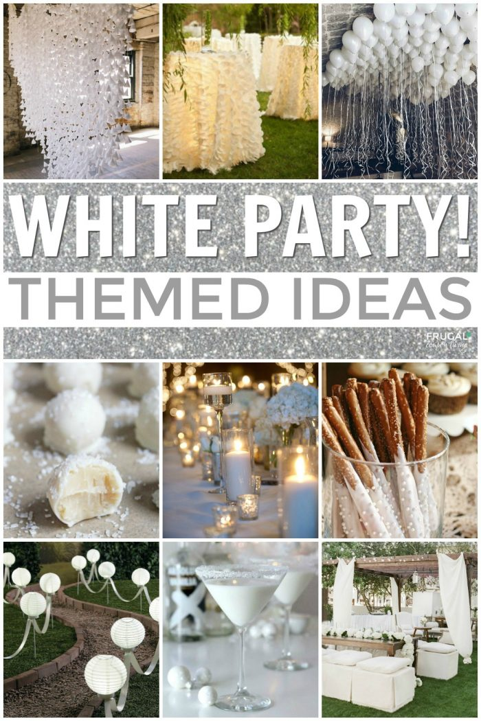 White Themed Party Ideas