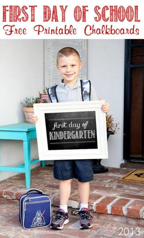 First and last days of school chalkboard signs