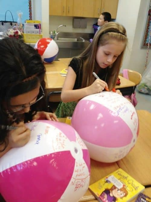 Autographs Beach Ball Activities