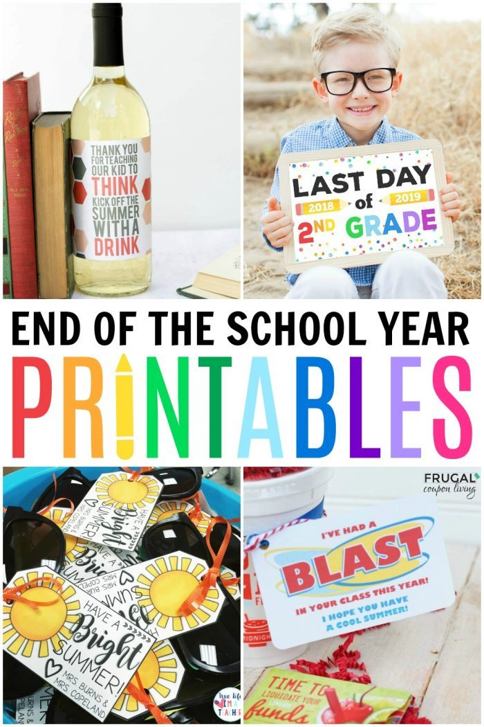 End of School Year Printables and Last Day of School Traditions