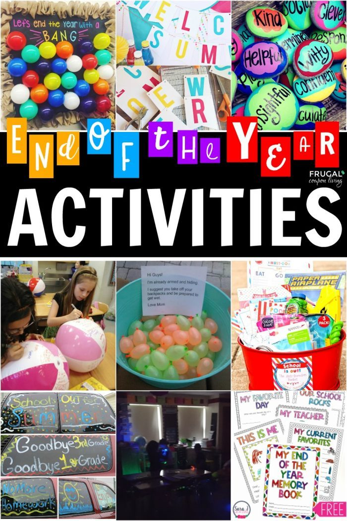 End of the Year Ideas and Activities for Teachers, Moms and Kids