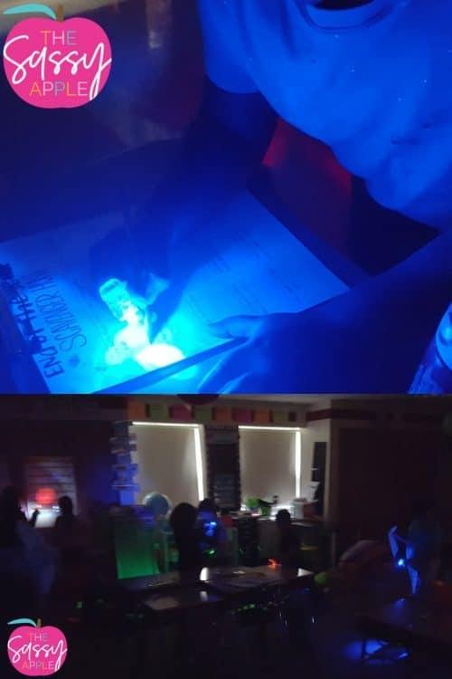 Glow in the Dark Creative Writing and Classroom