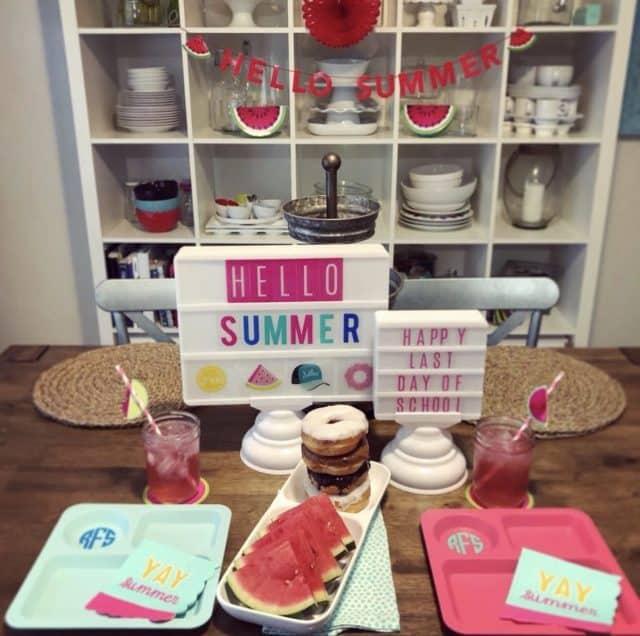 Hello Summer Last Day of School Breakfast Idea