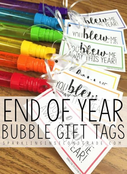 Blew Me Away End of the Year Bubbles Printable