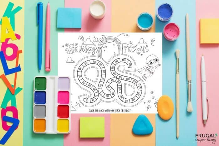 Coloring Savings Sheet for Kids